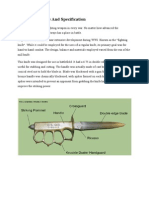 Knives Structure and Specification