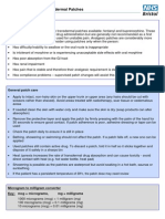 Transdermal Analgesic Patch Guide