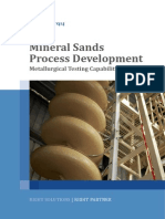 ALS Metallurgy - Mineral Sands Process Development
