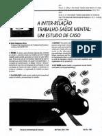 A Inter-relação Trabalho-saúde Mental