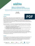 HRSSP Workshop Follow-up Survey Report