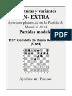 XT3- D37 Gambito de Dama Rehusado