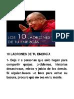 10 Ladrones de Tu Energía