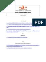 Boletín Informativo RP&GY Abogados - Abril de 2015