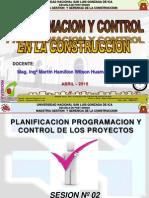 PLANIFICACION CONTROL Y SEGUIMIENTO DEL PROYECTO