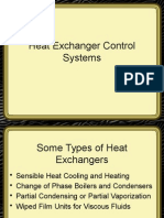 Heat Exchanger Control Systems