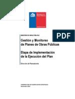 Gestion y Monitoreo Planes Obras Publicas CHILE