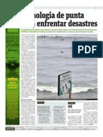 13-05-2015 - Publimetro - Tecnología de Punta Para Enfrentar Desastres Naturales