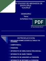 INTERDICTOS La Posesón Icacruz Presentación9