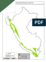 Mapa de Franjas Metalogeneticas de Cu y Mo Del Peru