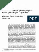 Para un análisis gnoseológico de la Psicología Cognitiva-Gustavo Bueno