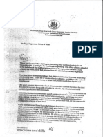 Prince of Wales correspondence with Secretary of State for Education, 2004