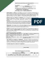 Procedimientos de Auditoria de Cumplimiento
