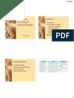 Dr. Singleton s Slides MAR 2011 Effectively Assessing IT General Controls