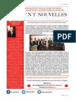 3e édition de la Newsletter du Haut-commissariat du Canada, Port d'Espagne, Trinité-et-Tobago