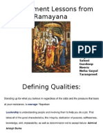 Management Lessons From Ramayana