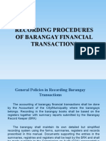 Barangay Financial Transactions Recording Procedures Presentation