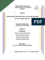 Limnologia Lagos en Xalapa