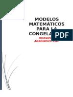 Modelos matemáticos - congelación