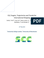 CO2 targets, trajectories and trends for international shipping