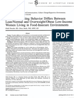 Health and Eating Behavior Differs Between Lean or Normal and Overweight or Obese Low Income Women Living In Food Insecure Environment.pdf