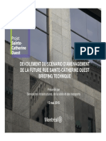 Ste-Catherine St. plans — Technical briefing [in French]