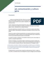Sociedad, Comunicación y Cultura Tecnológica