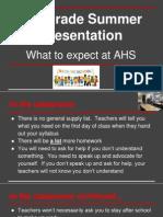 9th grade presentation - boot camp