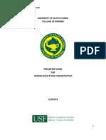 Preceptor Handbook for Nursing Education