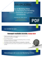 Lección 1-Fundamentos Del Marketing Online y Diseñando Para Generar Conversiones