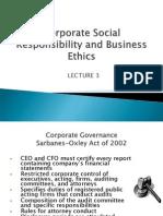 Lecture 3 - Csr & Business Ethics