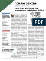 Boletín ICCRS Marzo y Abril 2013