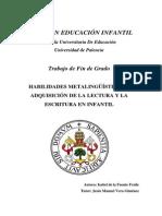 Habilidades Metalinguisticas y Escritura