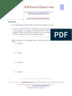 Self Esteem Worksheet 1