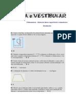 Soluções - Dilatometria - Dilatação Linear Superficial e Volumétrica