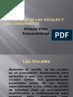 Aprendizaje de Las Vocales y Las Consonantes