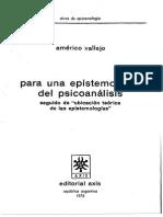 Vallejo, Americo - Para Una Epistemologia Del Psicoanalisis (Axis)
