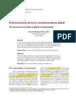 A Desconstrução Da Lei No Constitucionalismo Global
