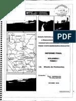 Estudio Definitivo Pata Rehabilitacion y Mejoramiento de La Carretera Chongoyape – Cochabamba – Cajamarca Vol. i