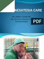 Post Aneshtesia Care