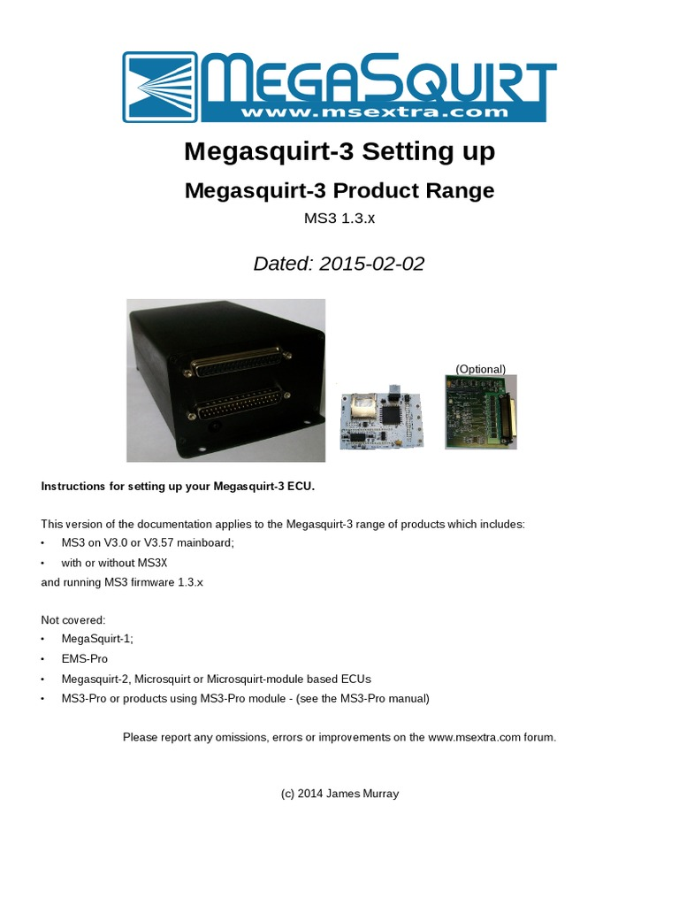 Megasquirt-3 Setting up MS3 1 3 x | Usb | Electrical Connector