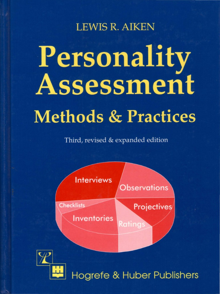 Personality Assessment Methods And Practices 3rd Edition
