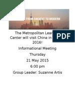 China Trip Flier