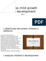 assess child growth and development