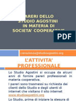 Pareri Dello Studio Agostini in Materia Di Societa