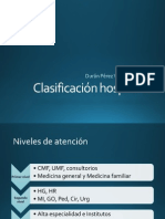 Clasificación hospitales