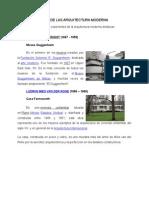 Exponentes de Las Arquitectura Moderna y Principios Basicos