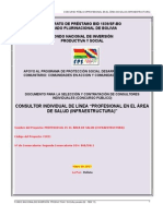 PROFESIONAL en Infrestructura Salud Segunda Convocatoria