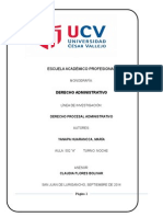 procedimientos para el proceso de  derecho de administracion