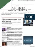 09-05-15 Gamboa asegura que el PAN alista trampa
